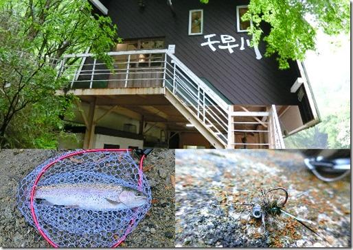 千早川マス釣り場フェザージグば爆釣