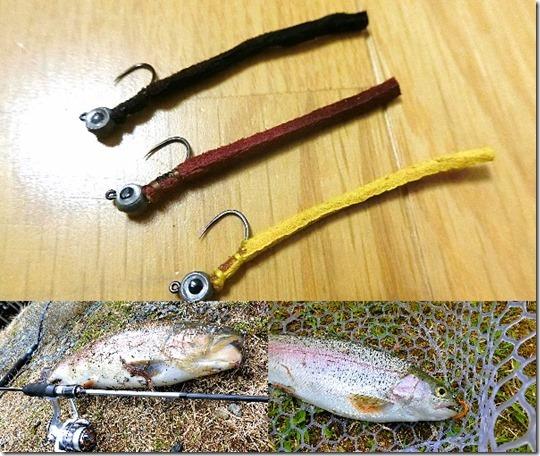 管理釣り場で大型にいますが釣れるフェザージグミノーの紹介