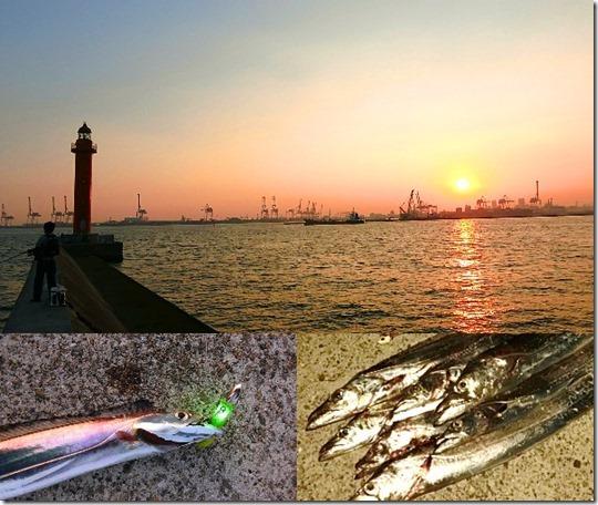 神戸7防タチウオ釣り