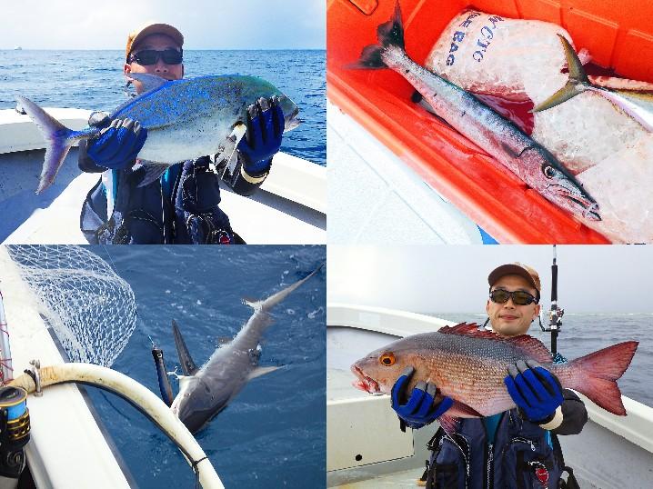 パラオGT釣行1日目の釣果