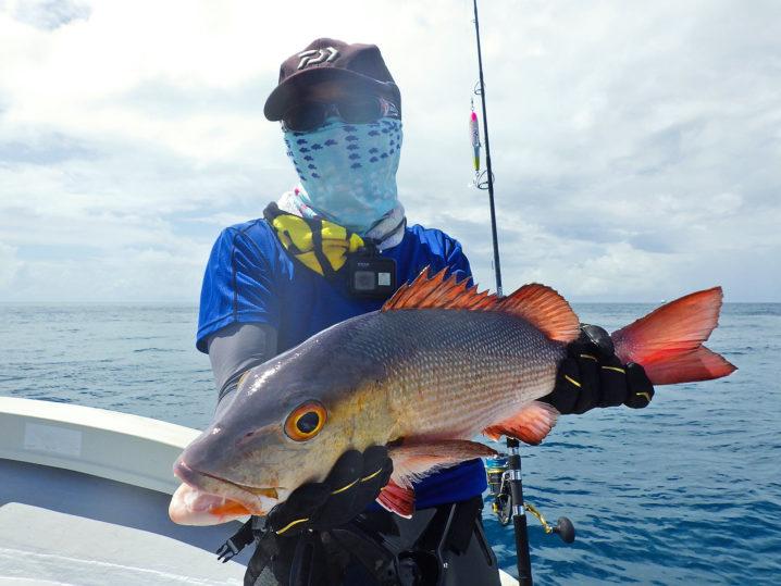 パラオGT釣行でレッドスナッパー(バラフエダイ)をゲット
