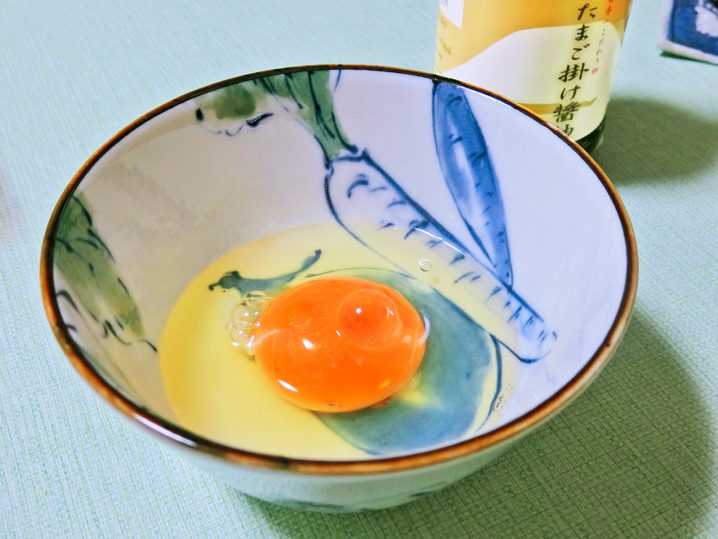 坊瀬島アジングから帰っきて卵ごはん1