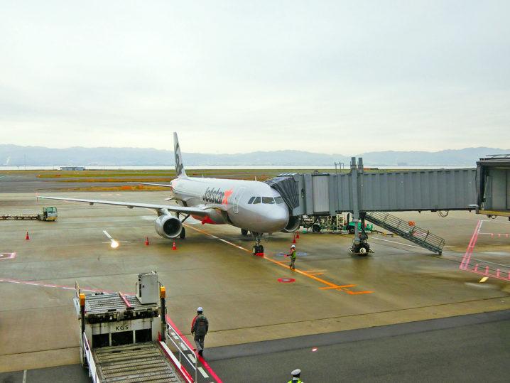パラオGT釣行大阪から東京行きの飛行機に乗る