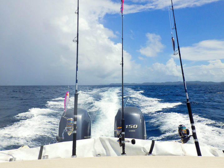 パラオのGTを釣る為移動