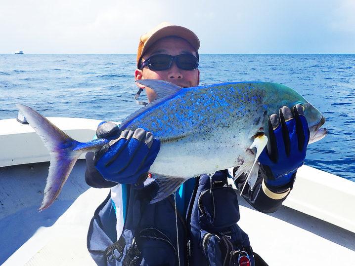 パラオGT釣りでの初フィッシュカスミアジ