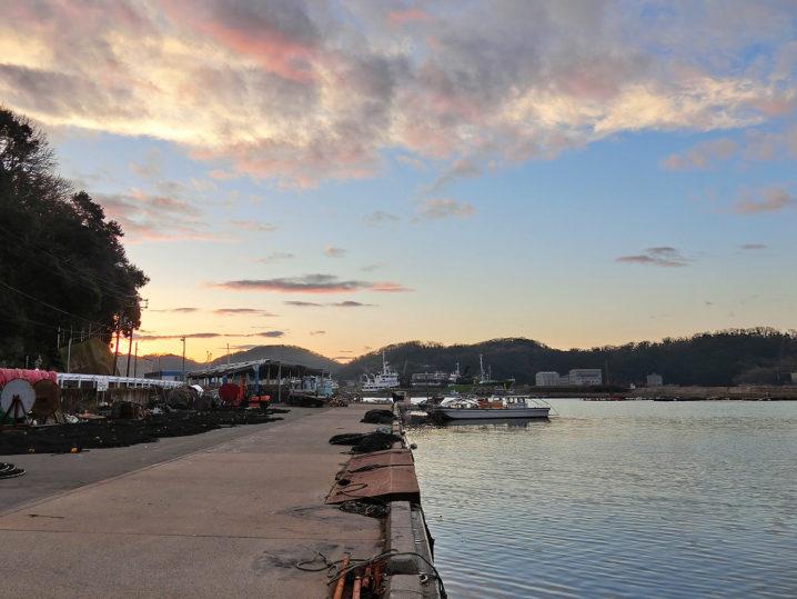 家島の海神社周辺の漁港でメバリング