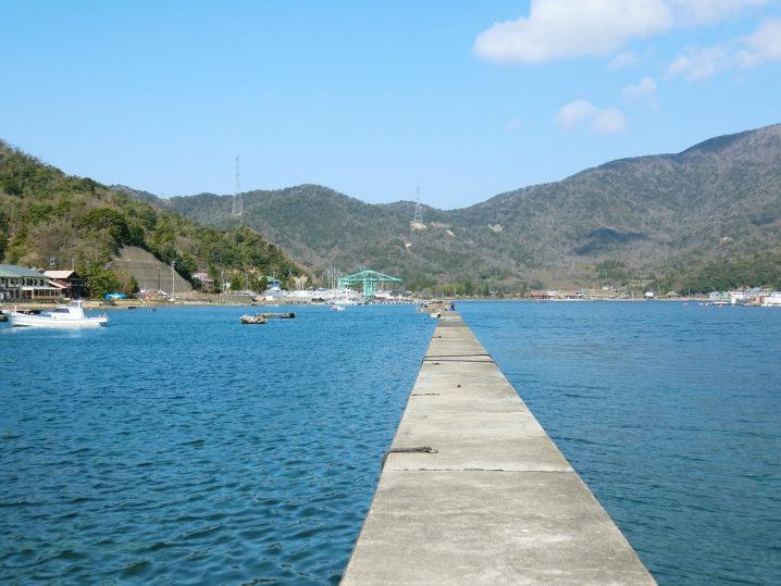 名子沖防波堤に到着