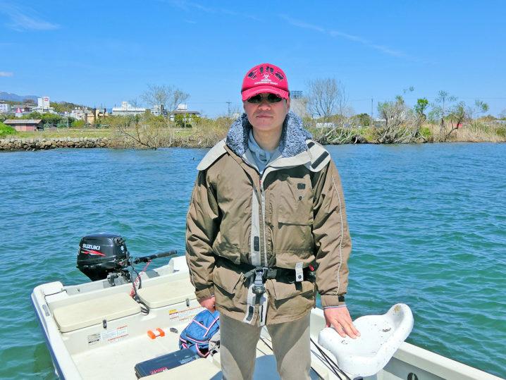 プロさんによる4月中旬の琵琶湖南湖の釣りの様子