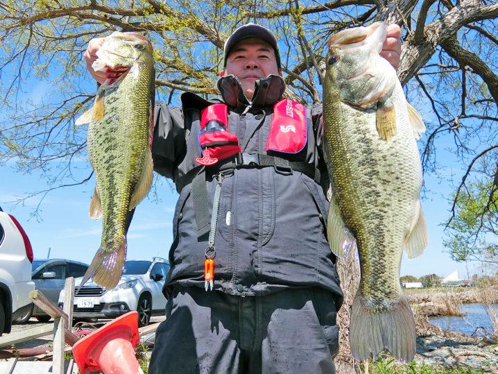 キャノピーさんによる4月中旬の琵琶湖南湖の釣りの様子