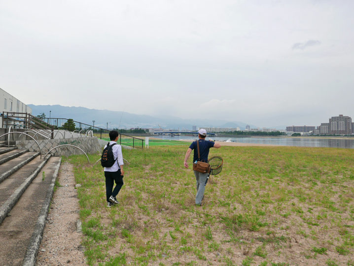 甲子園浜(人工島側)で集合、そしてチニング開始