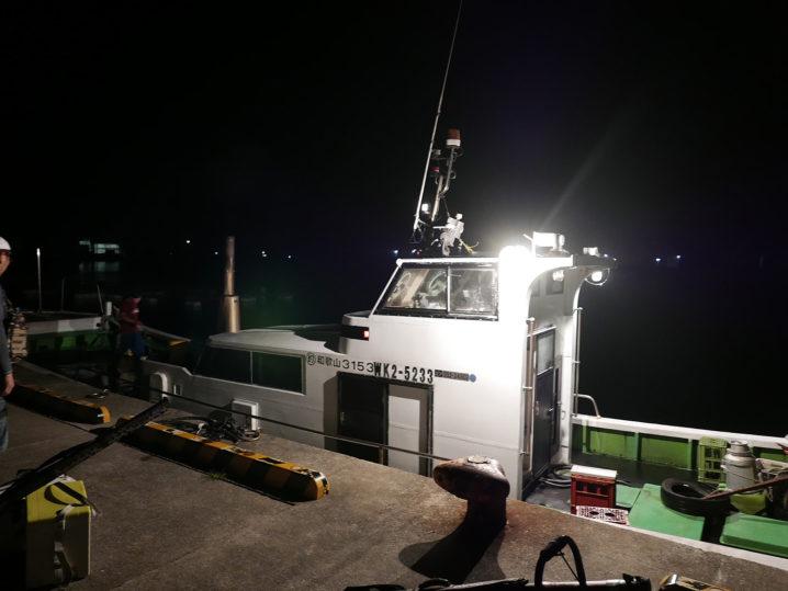 午前4時頃に照ちゃん渡船を使って出船