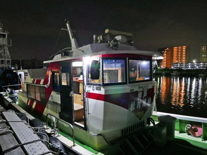 午前0時過ぎに松村渡船の受付場所に到着