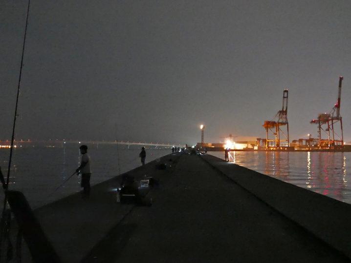 他の釣り人は夜釣り頑張っていました