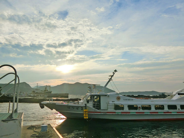 午後6時前に坊勢島に到着