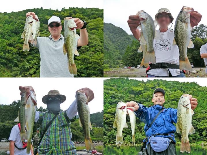 7人の9月中旬七色ダムにおけるバス釣りの様子をお伝えします