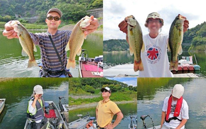 5人の9月下旬一庫ダムにおけるバス釣りの様子をお伝えします