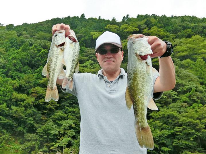 プロさんの9月中旬七色ダムのブラックバス釣りの様子