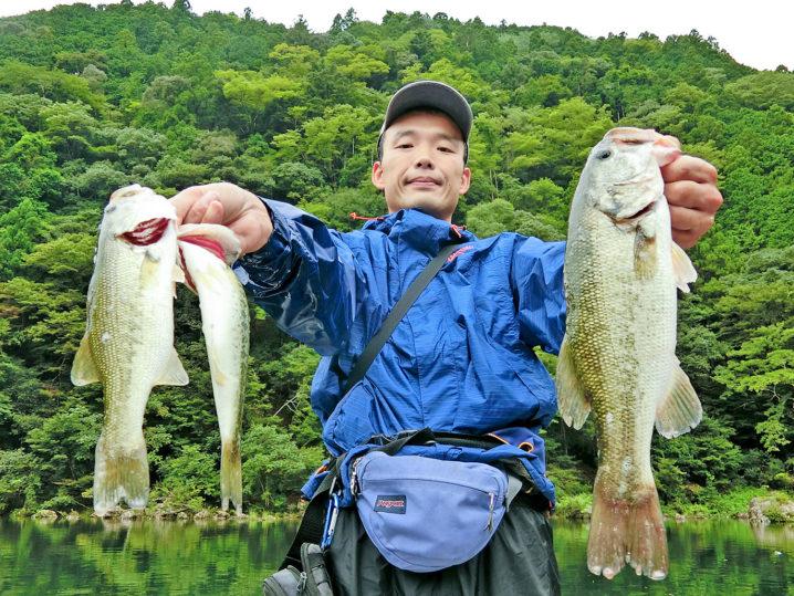 たけとの9月中旬七色ダムのブラックバス釣りの様子