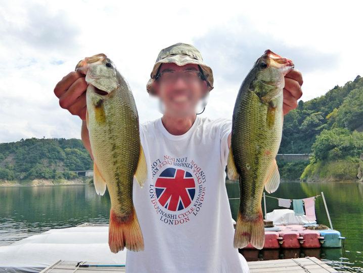 ランハイさんの9月下旬一庫ダムのブラックバス釣りの様子