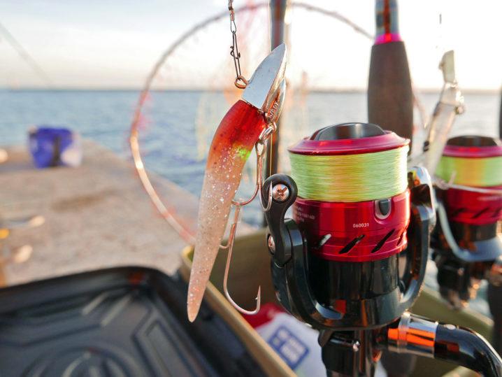 タチウオタックルの準備をして釣り開始!