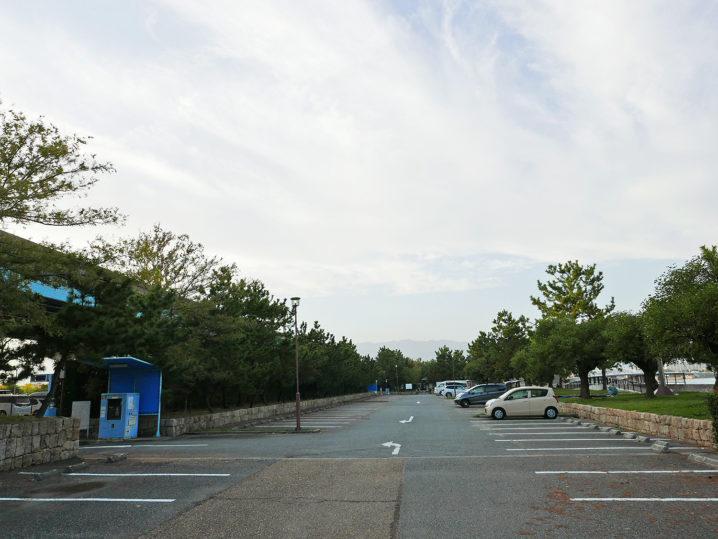 甲子園浜の駐車場に到着