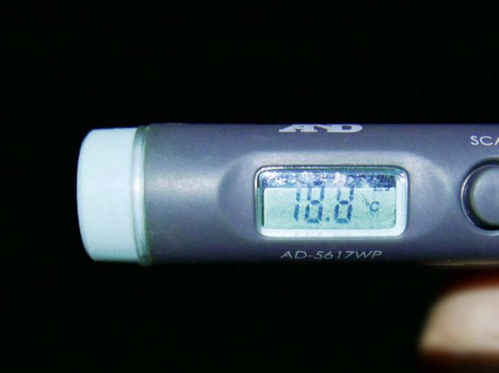 海水温は約18.8度でした
