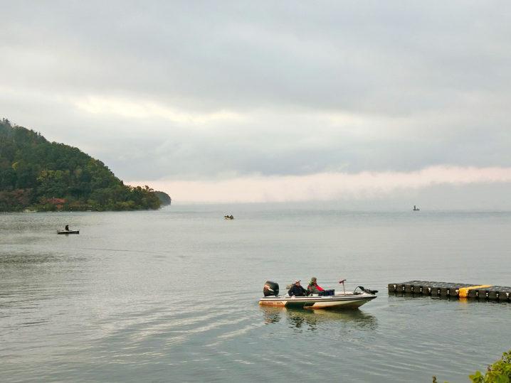 当日の奥琵琶湖周辺(奥出湾・大浦湾)の状況