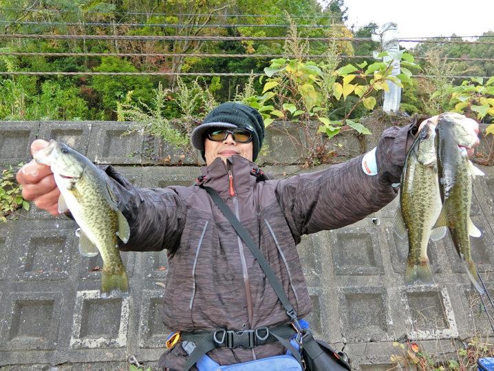 たけとの11月中旬大浦湾・奥出湾のブラックバス釣りの様子