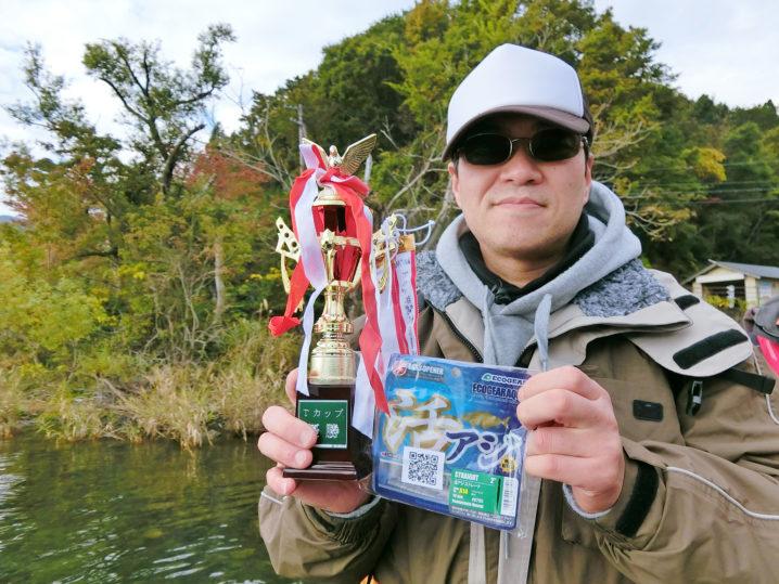 バス釣り大会年間総合優勝者は【プロさん】