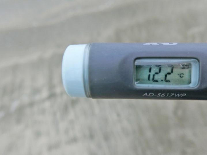 メバリング釣行前に敦賀湾各所の水温を測定2