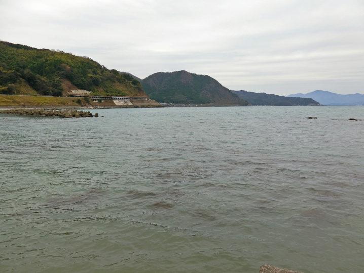メバリング釣行前に敦賀湾各所の水温を測定3