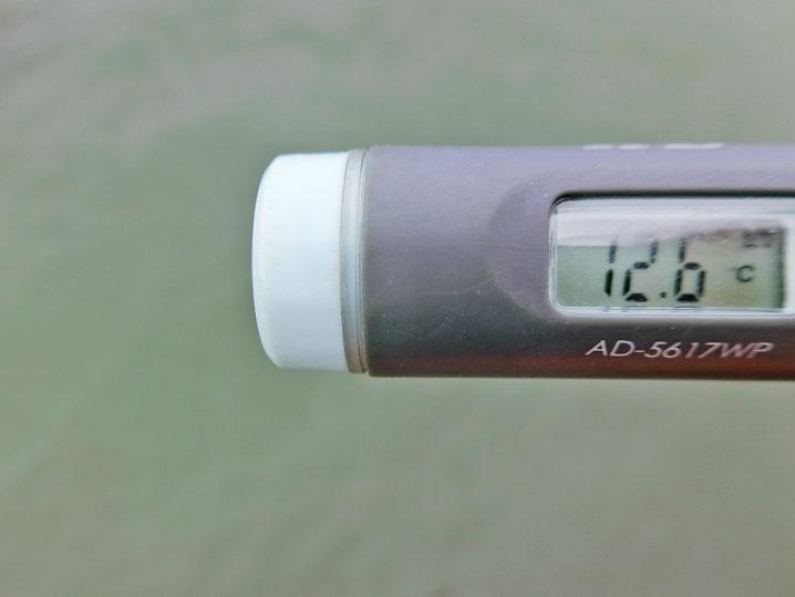 メバリング釣行前に敦賀湾各所の水温を測定4