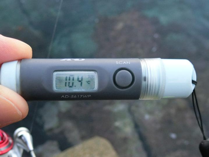 海水温は約10.4度