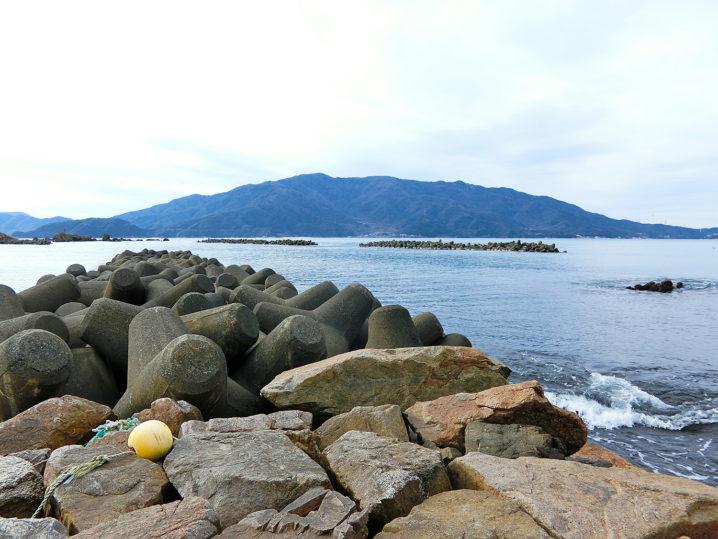 メバリング開始前に敦賀湾各所の海水温を測定