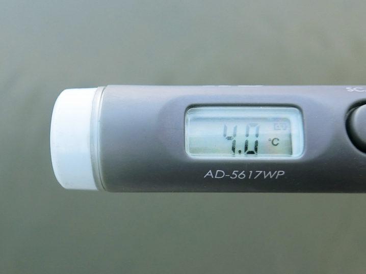 水温はなんとたったの約4.0度!