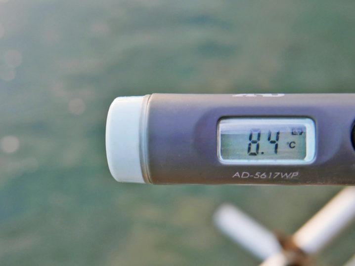 海水温は約8.4度
