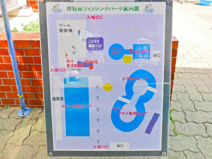岸和田フィッシングパークではフェザージグはフライと同じ扱い