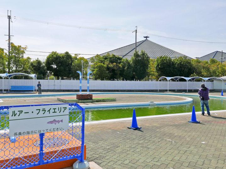 岸和田フィッシングパークで釣り開始!