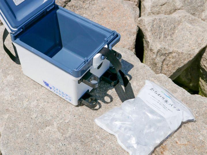 コンビニで売っているかちわり氷パック(約1.1kg)がぴったり入ります