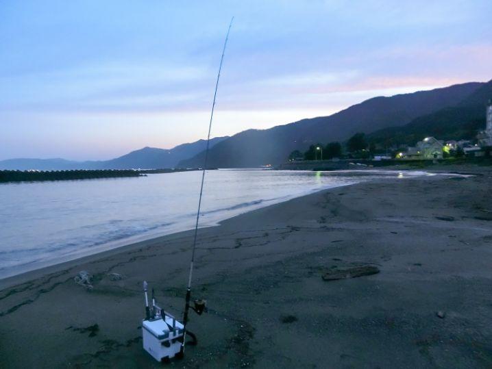 午前4時過ぎに根魚ルアーキャスティング釣り開始