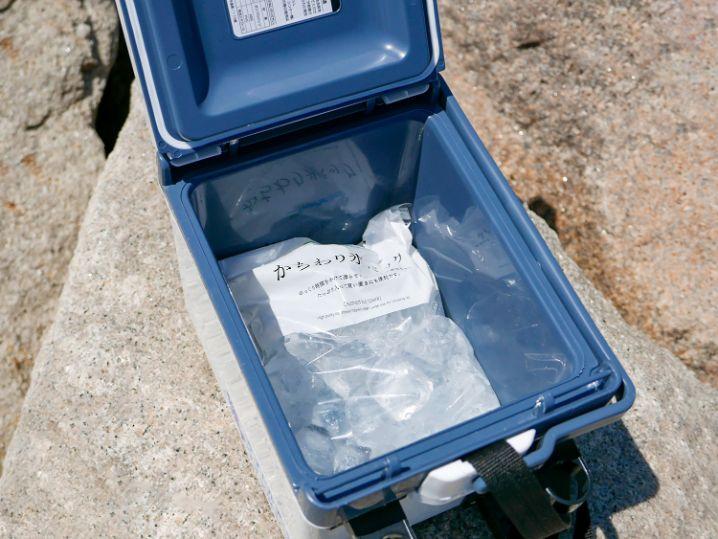 コンビニで売っているかちわり氷パック(約1.1kg)がぴったり入ります2