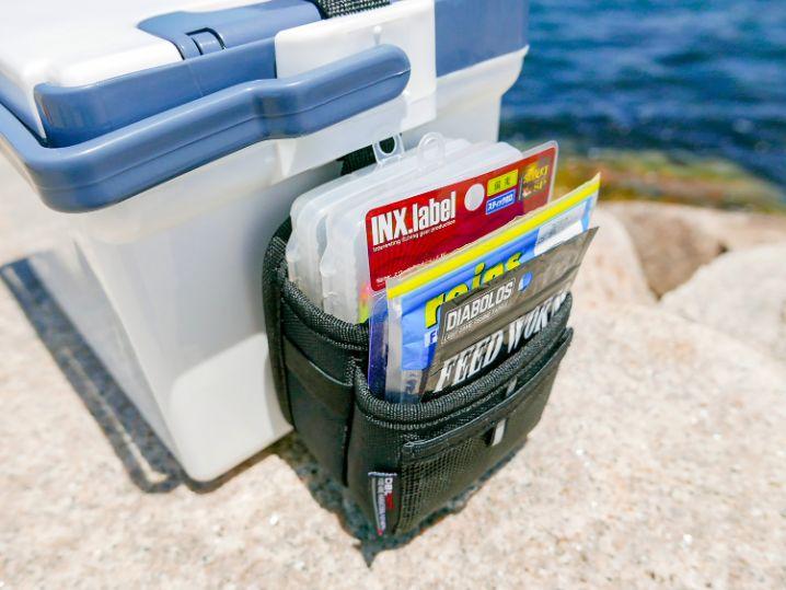 サイドポケットのパイプを外すとワームやジグヘッドケースを入れる事も可能2