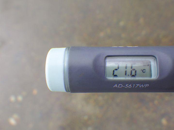 海水温は約21.6度