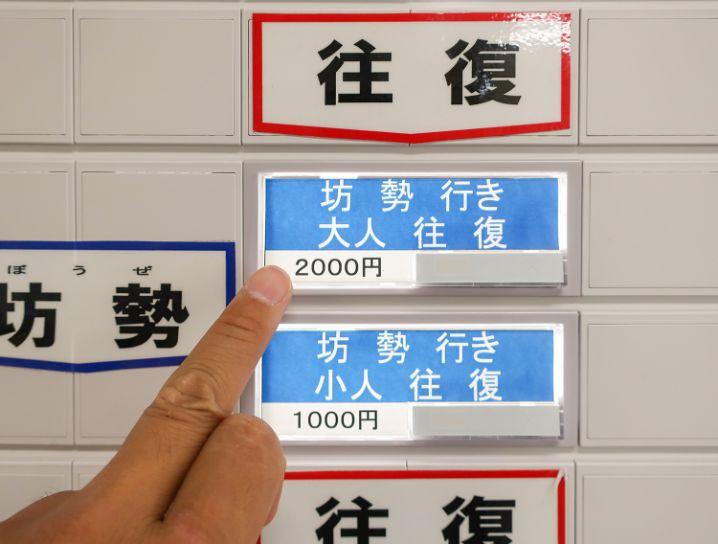 姫路港に到着したら【坊勢島行き】と【いえしま自然体験センター(西島)】両方の券を購入する