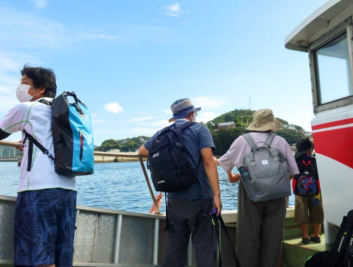 いえしま自然体験センター(西島)行きのフェリーへ乗り換え2