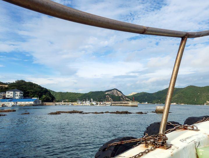 いえしま自然体験センター(西島)行きのフェリーへ乗り換え3