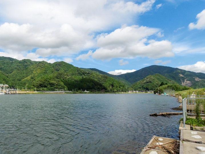 京都の由良川に到着・ルアーでのハゼ釣り開始