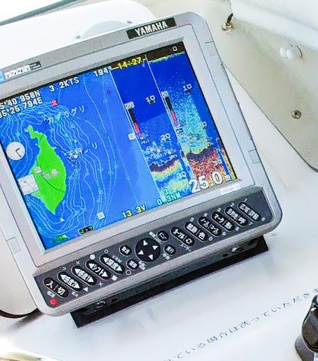 GPS魚探にポイントはマークされているので初挑戦でも安心