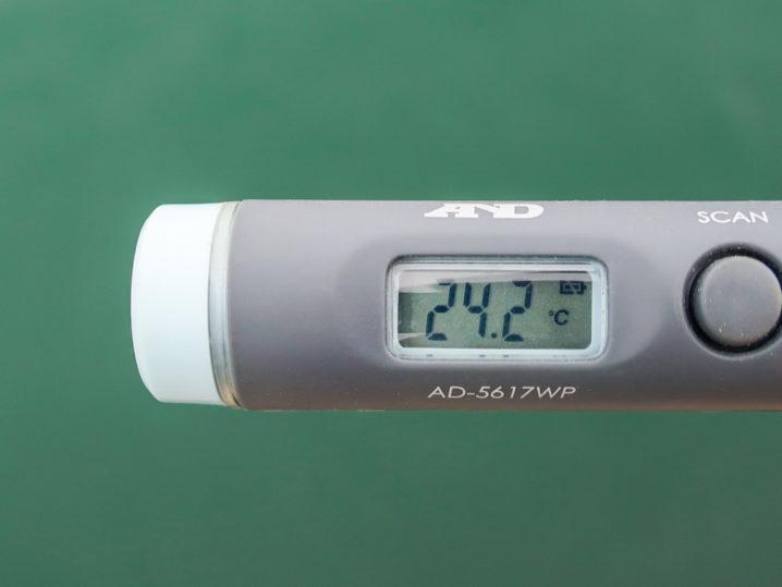 水温は約24.2度