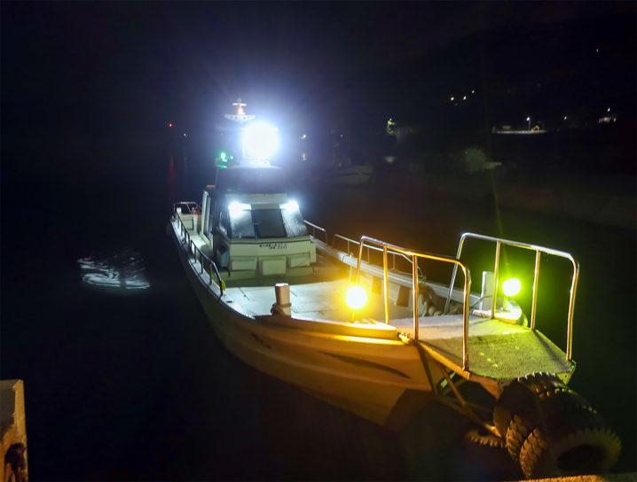 のりくら渡船を使って家島の沖防波堤へ
